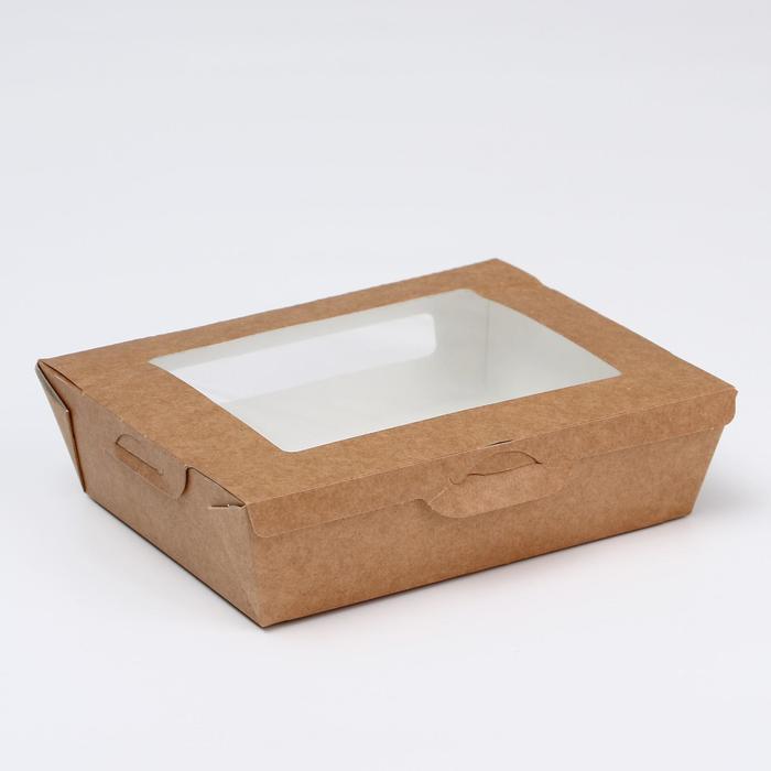 Упаковка, салатник с прозрачным окном, 19 х 15 х 5 см, 1л