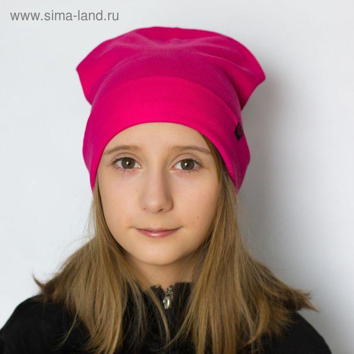 """Шапка для девушек """"М-40"""" демисезонная, размер 54-56, цвет розовый (арт. 190081)"""