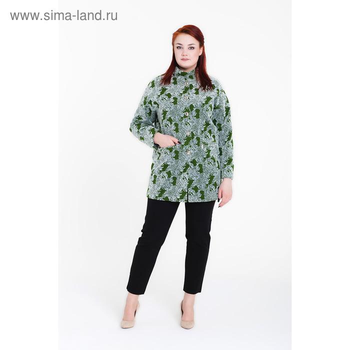 """Пальто женское """"Селена"""" С+, рост 168, размер 56, цвет зеленый"""