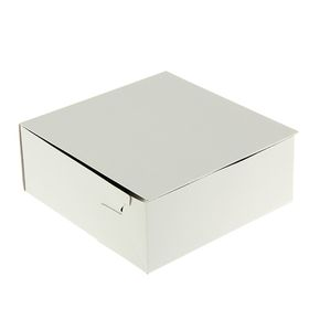 Кондитерская упаковка, короб, белый, 22,5 х 22,5 х 9 см