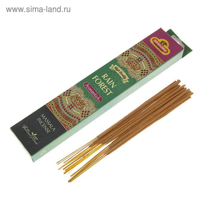 """Благовония масала Good Sign Company """"Дождливый лес"""", 14 ароматических палочек в упаковке"""