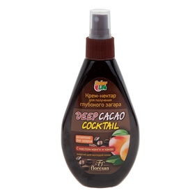 Deep Cacao Coctail Nectar Cream for deep tanning, with mango and cocoa butter, 160 ml.