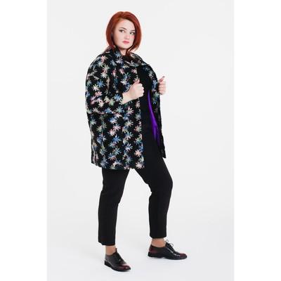 """Пальто женское на синтепоне """"Геля"""", рост 168, размер 48, цвет звезды"""