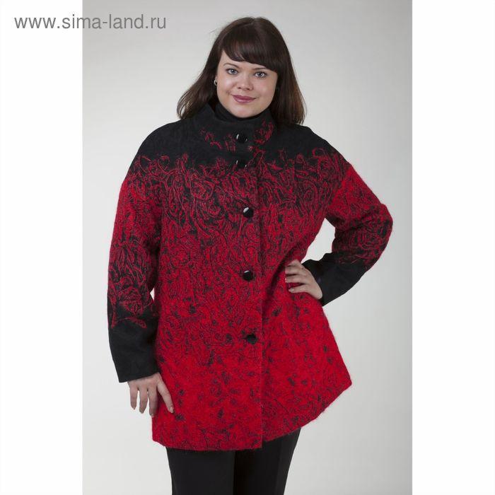 """Пальто женское на синтепоне """"Руслана"""" С+, рост 168, размер 52, цвет красный"""