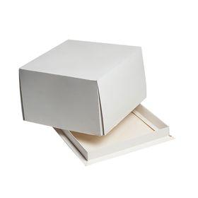 Кондитерская упаковка, короб белый, 17 х 17 х 10 см