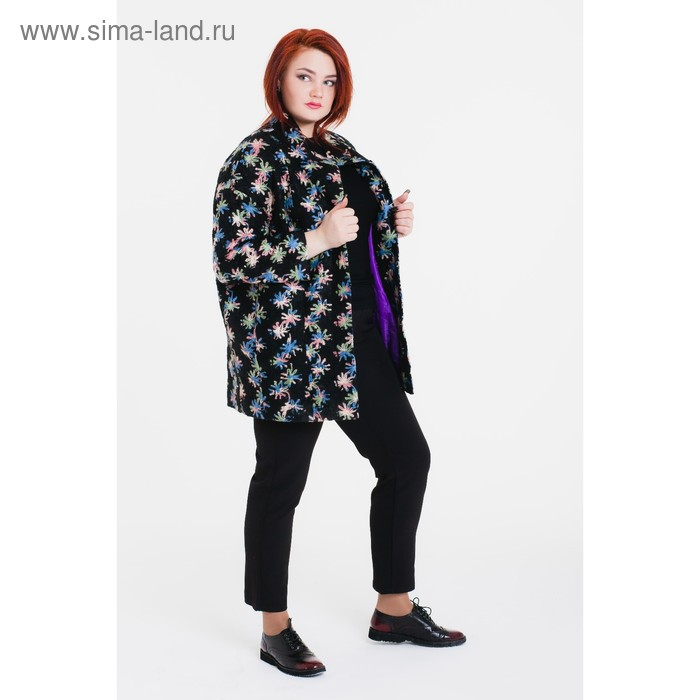 """Пальто женское на синтепоне """"Геля"""" С+, рост 168, размер 52, цвет звезды"""