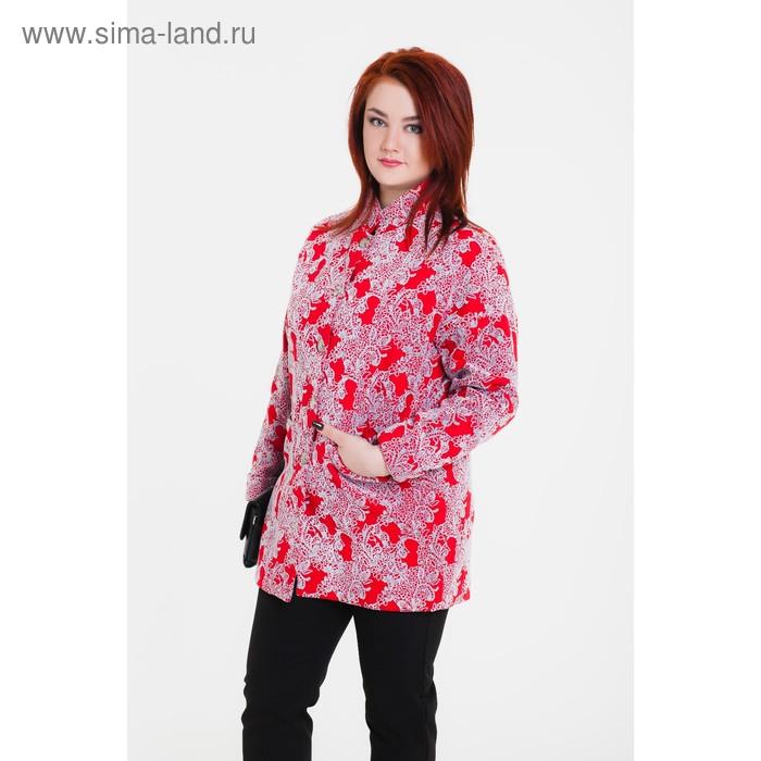 """Пальто женское """"Селена"""" С+, рост 168, размер 54, цвет красный"""