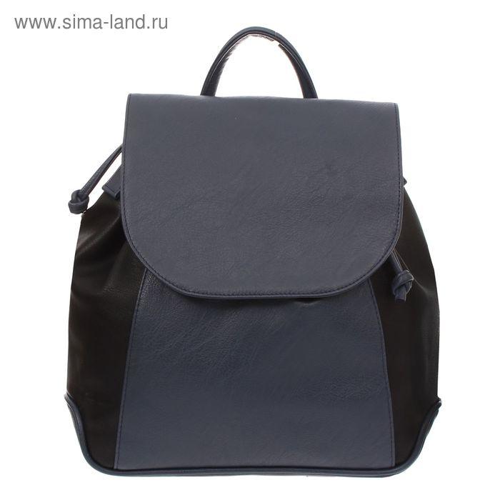 Рюкзак на молнии, 1 отдел, 1 наружный карман, чёрный/фиолетовый