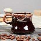 """Чашка кофейная """"Арго"""" коричневая, 0,1 л"""