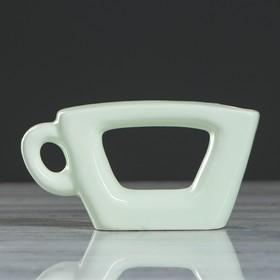 "Ваза ""Чашка"", зелёный цвет, 7,5 см"