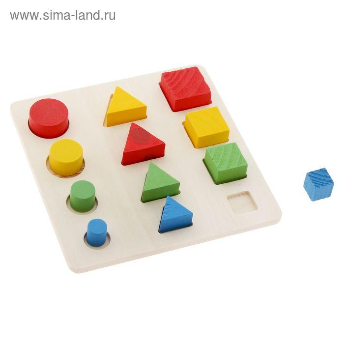 """Головоломка """"Логические дроби"""" учим формы, цвета и размеры, 12 элементов в пакете"""