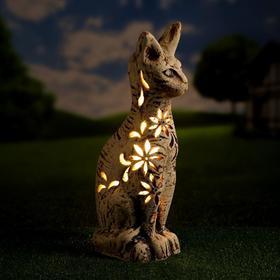 """Садовый светильник """"Кошка"""", шамот, 44 см, без элемента питания"""