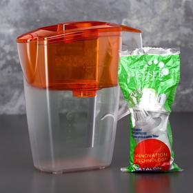 Фильтр-кувшин «Гейзер-Альфа», 2,5 л, цвет оранжевый