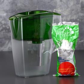 """Фильтр-кувшин 2,5 л """"Гейзер-Альфа"""", цвет зеленый"""