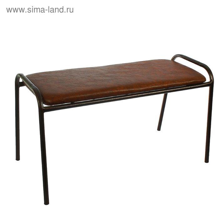 Банкетка-скамья, с медным покрытием ножек, цвет шоколад