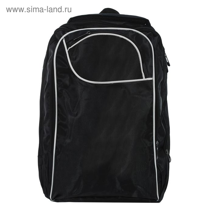 """Рюкзак молодёжный """"Спринт"""", 2 отдела, отдел для компьютера, 2 наружных и 2 боковых кармана, чёрный"""