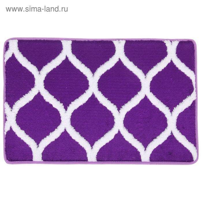 """Коврик для ванной 40х60 см """"Энерджи"""", цвет фиолетовый"""