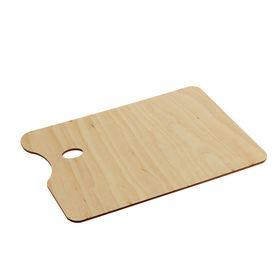 Палитра деревянная, прямоугольная, № 5, 20 х 30 см