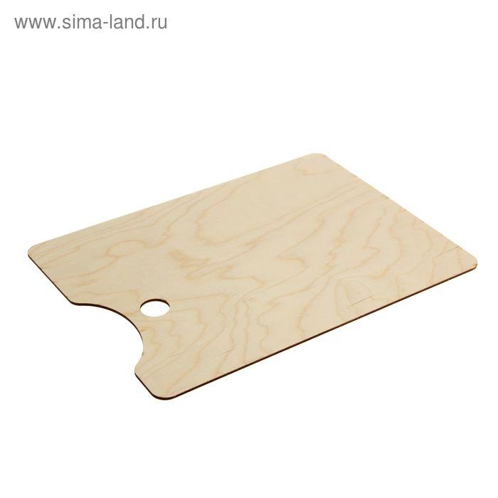 Палитра деревянная прямоугольная №3 30*40 см