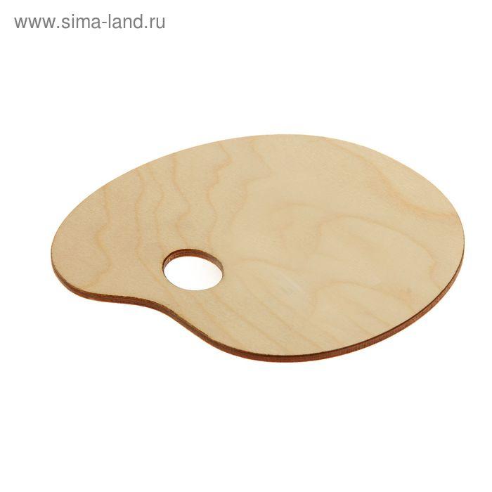 Палитра деревянная овальная №1 16*16 см
