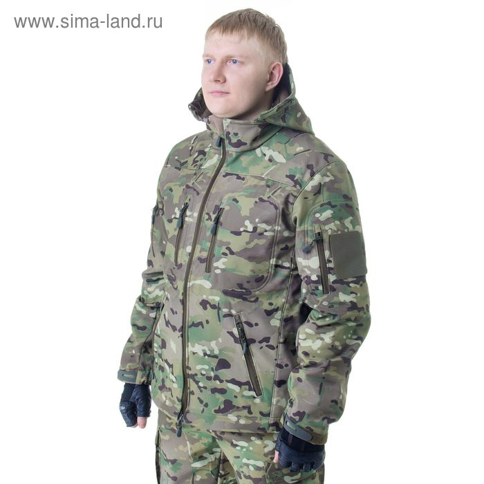 Куртка с капюшоном для спецназа демисезонная МПА-26 (тк.софтшелл) КМФ мультикам (54/4)