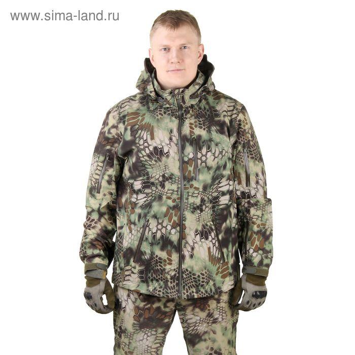 Куртка с капюшоном для спецназа демисезонная МПА-26 (тк.софтшелл) КМФ питон лес (54/5)