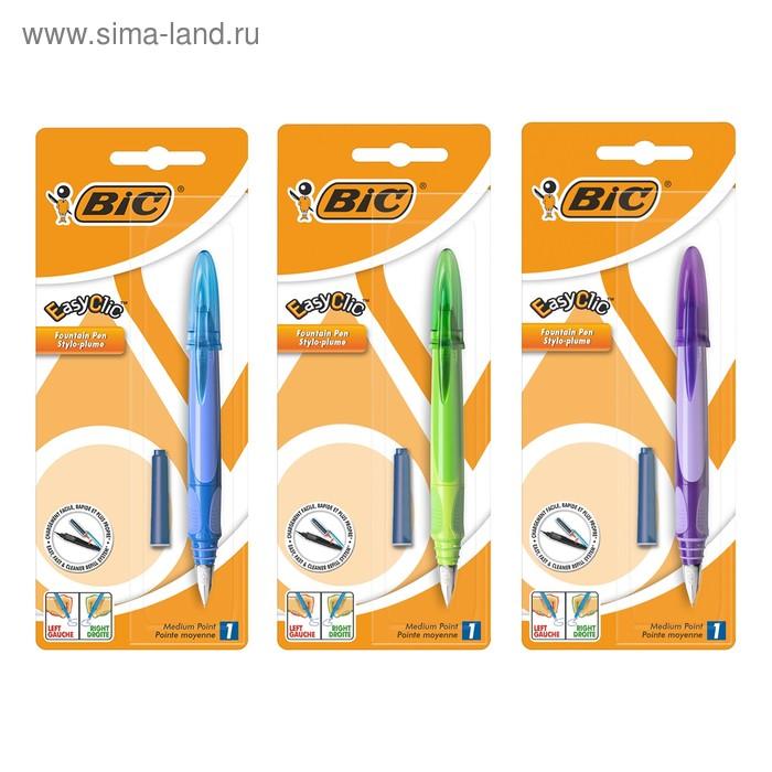 Ручка перьевая BIC EasyClic Standard, синие чернила, узел стальной иридиевый, микс