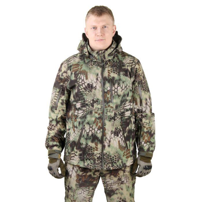Куртка с капюшоном для спецназа демисезонная МПА-26 (тк.софтшелл) КМФ питон лес (54/4)