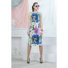 Платье, цвет синий, размер 48, рост 164 см (арт. 4702)