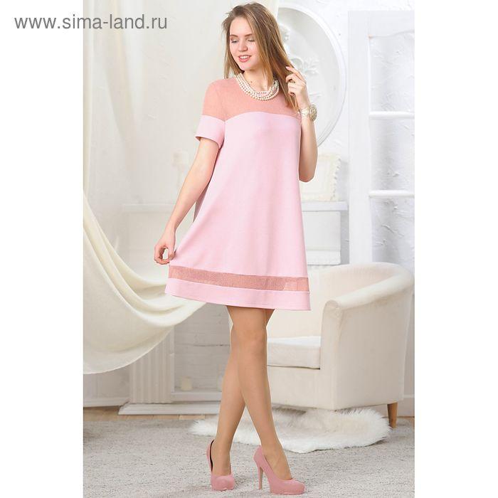 Платье женское, рост 164 см, размер 42, цвет розовый (арт. 4698а)