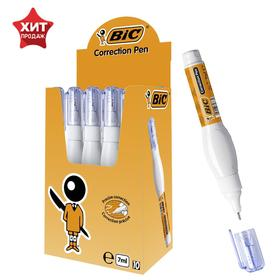 Корректирующая ручка, белая, тонкий металлический наконечник, 7 мл, BIC Correction Pen