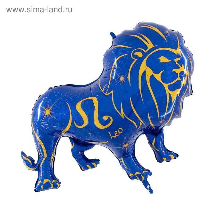 """Шар фольгированный 46"""" """"Знак зодиака Лев"""", цвет синий"""