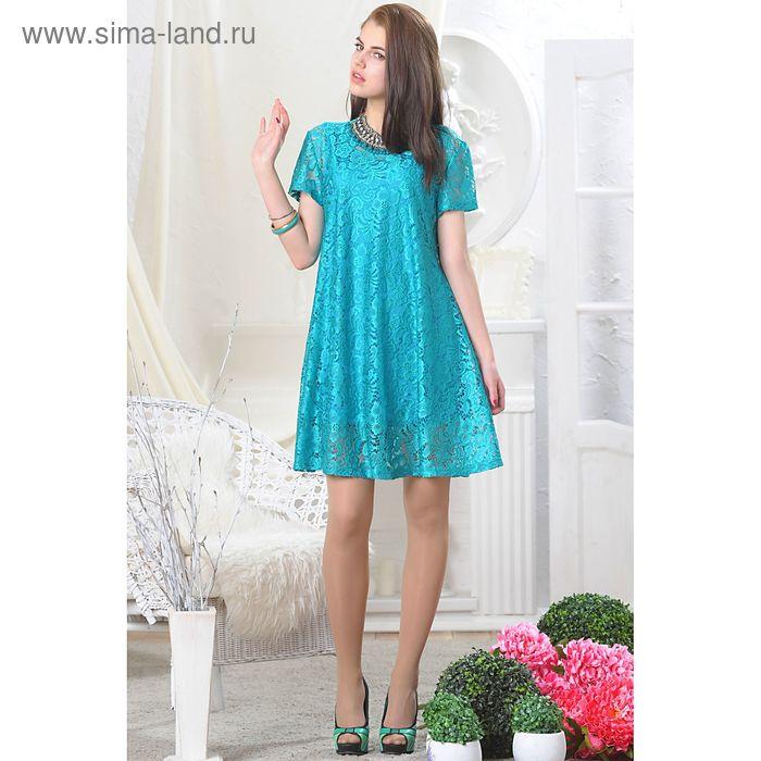 Платье женское, рост 164 см, размер 42, цвет зелёный (арт. 4595а)