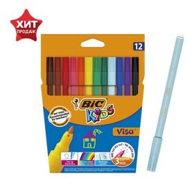 Фломастеры 12 цветов BIC Kids Visa 880