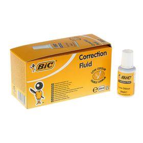 Корректирующая жидкость 20 мл, BIC Correction Fluid, водная основа