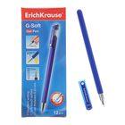 Ручка гелевая G-SOFT,с покрытием Soft Touch, узел-игла 0.38мм, чернила синие, длина линии письма 600м