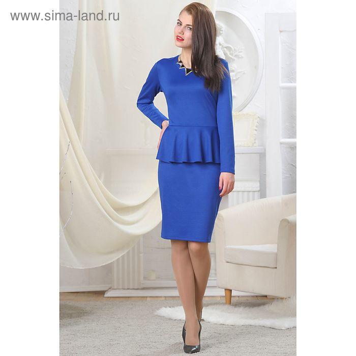 Платье женское, рост 164 см, размер 52, цвет синий (арт. 4728а С+)
