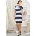 Платье женское, рост 164 см, размер 48, цвет тёмно-синий/белый (арт. 4727)