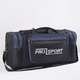 Сумка спортивная, отдел на молнии, 3 наружных кармана, цвет чёрный/синий