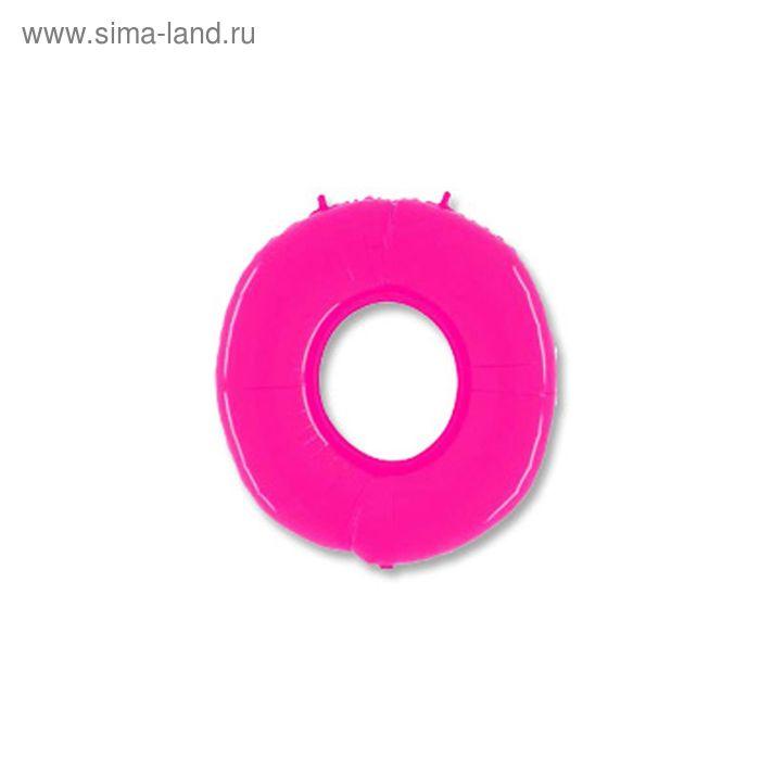 """Шар полимерный 40"""" """"Цифра 0"""", цвет ярко-розовый"""