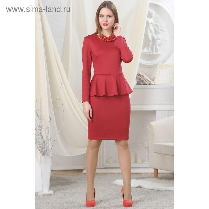 Платье женское, рост 164 см, размер 48, цвет красный (арт. 4728)