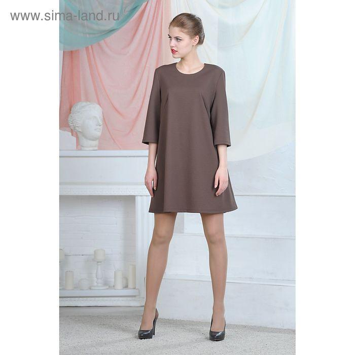 Платье, цвет шоколадный, размер 50, рост 164 см (арт. 4686а С+)