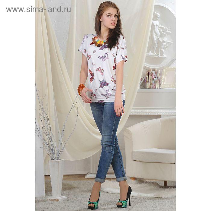 Блуза женская, рост 164 см, размер 52, цвет белый (арт. 4724)