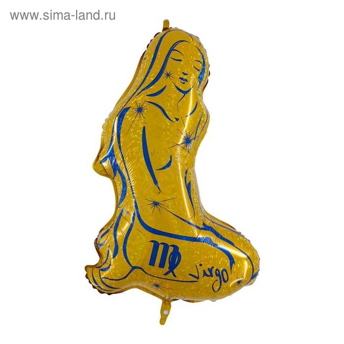 """Шар фольгированный 36"""" """"Знак зодиака Дева"""", цвет золотой"""