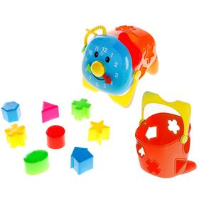 Puzzle toy 2 in 1 shape sorter-bucket, Timer, MIX