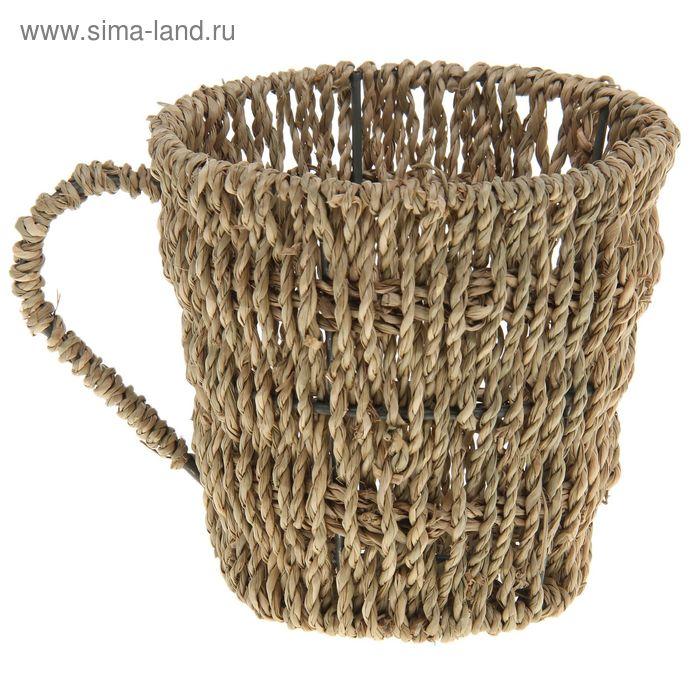 "Кашпо плетёное ""Чашка"""