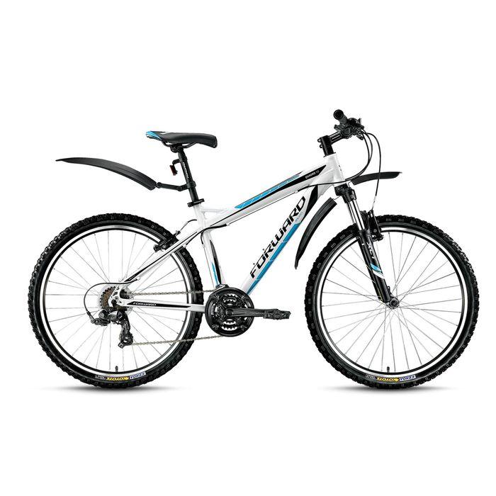 "Велосипед 26"" Forward Quadro 1.0, 2016, цвет белый, размер 21"""