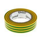Изолента Uniel, 15 мм х 10 м, 0.135 мм, (набор 10 шт), цвет желто-зеленый