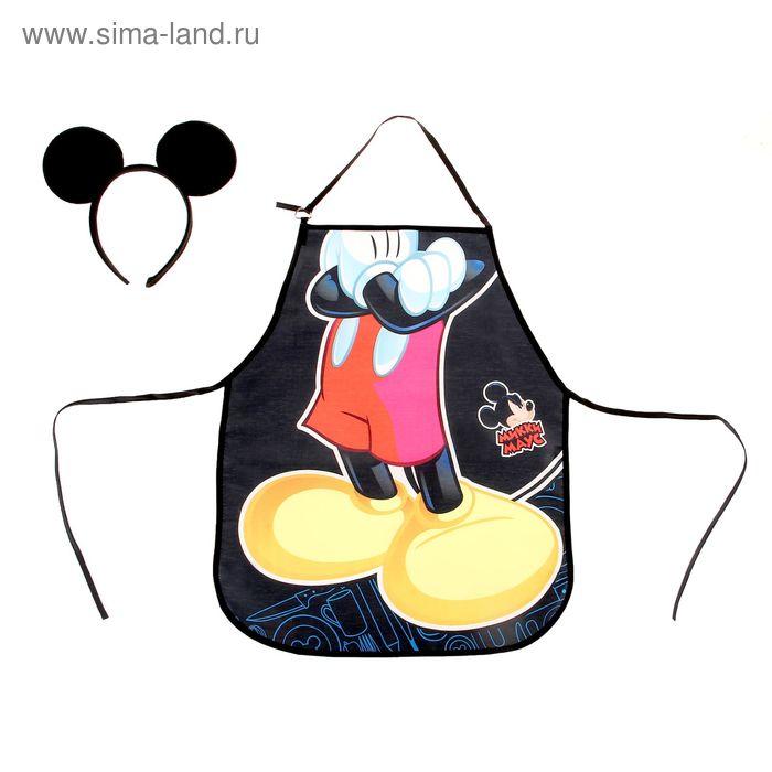 """Фартук детский """"Микки Маус"""", Микки Маус, + ободок с ушками"""