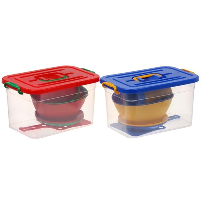 Набор посуды на 6 персон, 34 предмета (контейнер 10 л), цвет МИКС